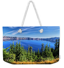 Weekender Tote Bag featuring the photograph Crater Lake Rim Reflections by Frank Wilson