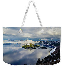 Crater Lake Storm Weekender Tote Bag