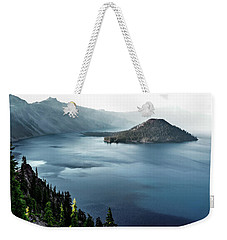 Crater Lake Under A Siege Weekender Tote Bag by Eduard Moldoveanu