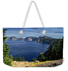 Weekender Tote Bag featuring the photograph Crater Lake View by Frank Wilson