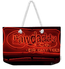 Craw Daddy Neon Sign Weekender Tote Bag by Steven Spak