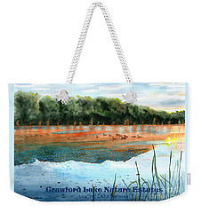 Crawford Lake Nature Estates Weekender Tote Bag by LeAnne Sowa