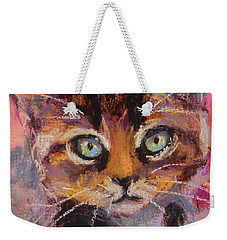 Crazy Cat Tabby  Weekender Tote Bag