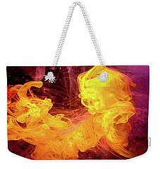 Crazy Chase - Purple And Yellow Abstract Photography Weekender Tote Bag