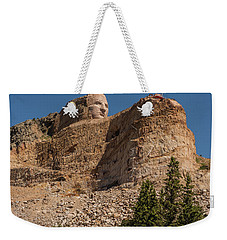 Weekender Tote Bag featuring the photograph Crazy Horse Memorial by Brenda Jacobs