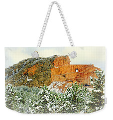 Crazy Horse Memorial In The Snow Weekender Tote Bag