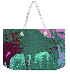 Crazy Looking Moose Weekender Tote Bag