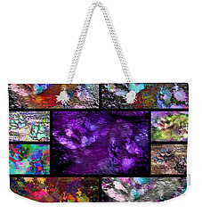 Crazy Paw Print Collage Weekender Tote Bag