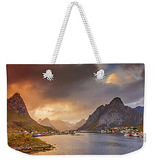 Crazy Sunset In Lofoten Weekender Tote Bag by Alex Conu