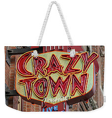 Weekender Tote Bag featuring the photograph Crazy Town by Stephen Stookey