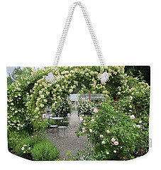 Cream-colored Roses With Your Coffee Weekender Tote Bag