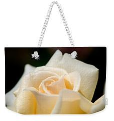 Cream Rose Kisses Weekender Tote Bag