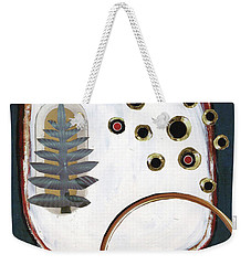 Weekender Tote Bag featuring the painting Creation by Michal Mitak Mahgerefteh