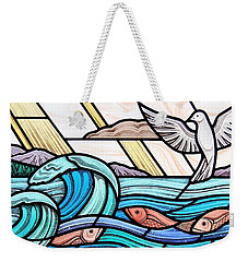 Creation Of The Sea And Sky Weekender Tote Bag by Gilroy Stained Glass