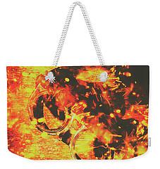 Creative Industrial Flames Weekender Tote Bag