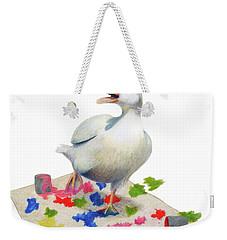 Weekender Tote Bag featuring the drawing Creative by Phyllis Howard