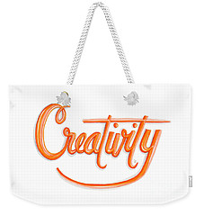 Weekender Tote Bag featuring the drawing Creativity by Cindy Garber Iverson