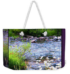 Weekender Tote Bag featuring the photograph Creek Daisys by Susan Kinney
