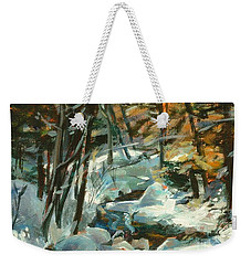 Creek In The Cold Weekender Tote Bag