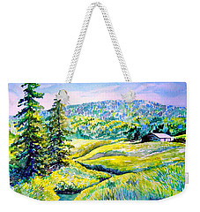 Creek To The Cabin Weekender Tote Bag