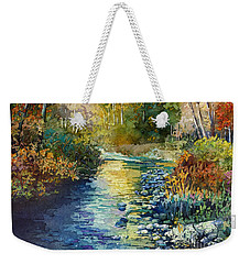 Weekender Tote Bag featuring the painting Creekside Tranquility by Hailey E Herrera