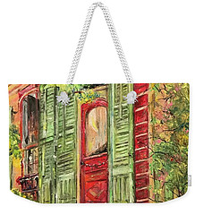 Creole Painted Lady In The Marigny Weekender Tote Bag