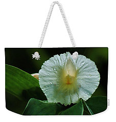 Weekender Tote Bag featuring the photograph Crepe Ginger Blossom by Craig Wood