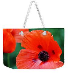 Crepe Paper Petals Weekender Tote Bag by Debbie Oppermann