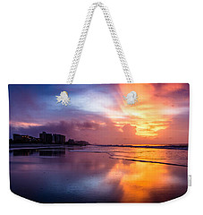 Crescent Beach Sunrise Weekender Tote Bag