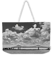 Crescent City Connection In Black And White Weekender Tote Bag