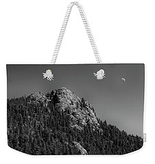 Weekender Tote Bag featuring the photograph Crescent Moon And Buffalo Rock by James BO Insogna