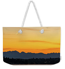 Crescent Moon Sunset Weekender Tote Bag