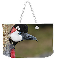 Weekender Tote Bag featuring the photograph Crested Crane by Marie Leslie
