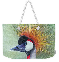Crested Crane Weekender Tote Bag by Phyllis Howard