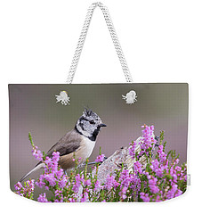 Crested Tit In Heather Weekender Tote Bag