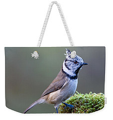 Crested Tit Weekender Tote Bag by Torbjorn Swenelius