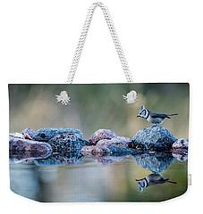 Crested Tit's Reflection Weekender Tote Bag