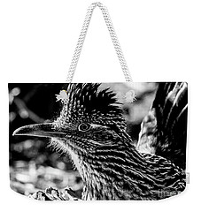 Cresting Roadrunner, Black And White Weekender Tote Bag