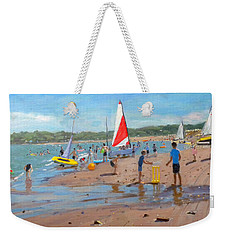 Cricket And Red And White Sail Weekender Tote Bag