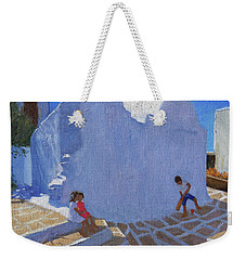 Cricket By The Church Wall, Mykonos  Weekender Tote Bag