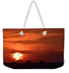 Weekender Tote Bag featuring the photograph Crimson Burn by John Glass
