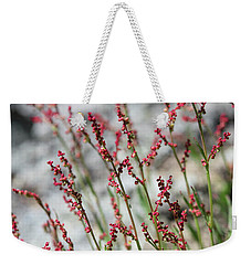 Crimson Field Weekender Tote Bag