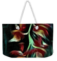 Weekender Tote Bag featuring the photograph Crimson Flow by Kathie Chicoine