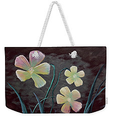 Crimson Flower Weekender Tote Bag