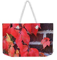 Crimson Leaves Weekender Tote Bag