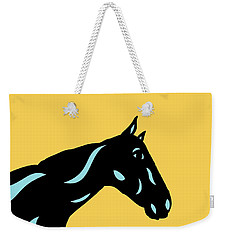 Crimson - Pop Art Horse - Black, Island Paradise Blue, Primrose Yellow Weekender Tote Bag