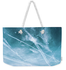 Weekender Tote Bag featuring the photograph Criss-cross Sky by Colleen Kammerer