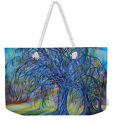 Weekender Tote Bag featuring the drawing Crystal Light by Anna  Duyunova