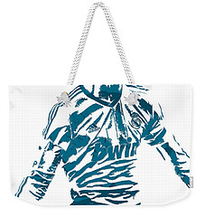 Cristiano Ronaldo Real Madrid Pixel Art 4 Weekender Tote Bag
