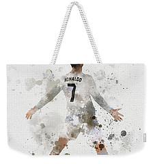 Cristiano Ronaldo Weekender Tote Bag by Rebecca Jenkins